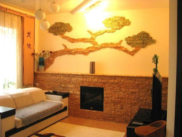 Декор стен из камней