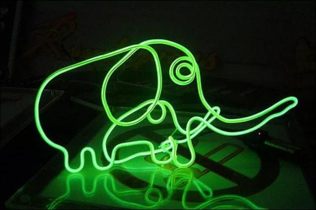 Поделки из неоновых ламп
