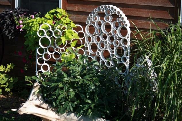 Поделки из канализационных труб своими руками для сада