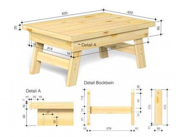 Сделать кроватный столик своими руками